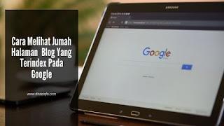 Cara Melihat Jumah Halaman Blog Yang Terindex Pada Google