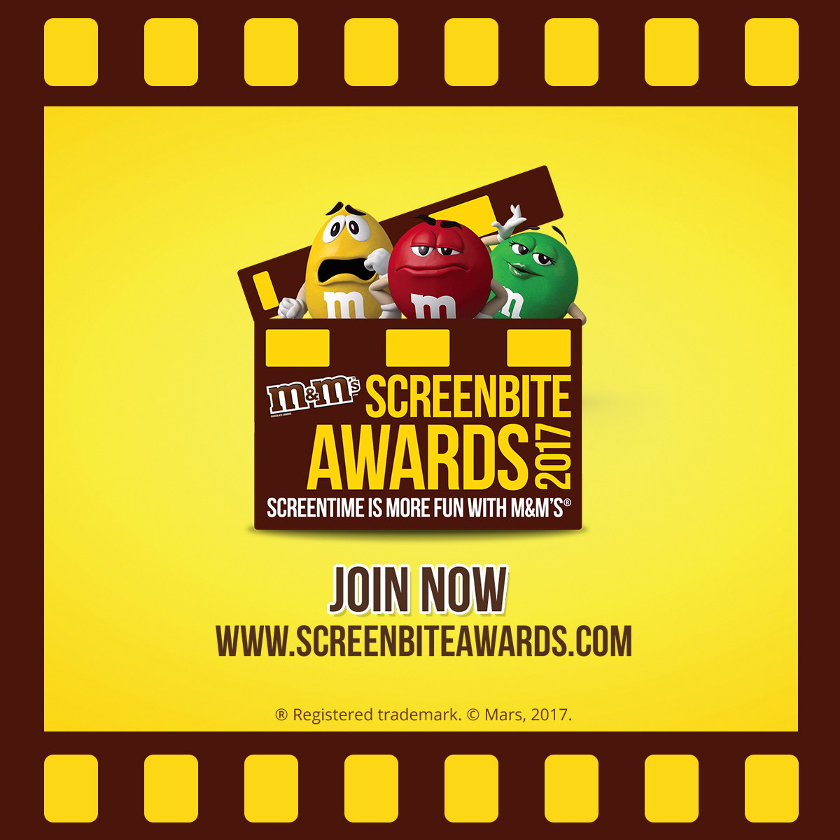 Join the M&M'S® Screenbite Awards 2017