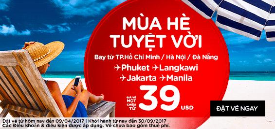 Air Asia khuyến mãi giá siêu rẻ chỉ từ 4 USD