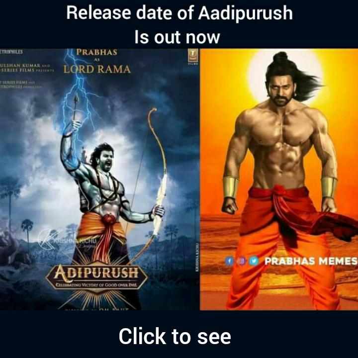 Release date of 'Adipurush'
