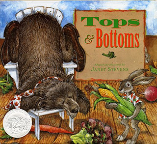 https://www.amazon.com/Tops-Bottoms-Caldecott-Honor-Book/dp/0152928510/ref=sr_1_1?ie=UTF8&qid=1491606945&sr=8-1&keywords=Book+Tops+and+Bottoms