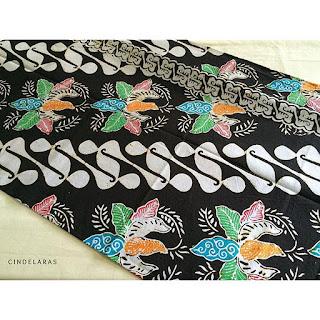kain batik cap barong seling colet baru
