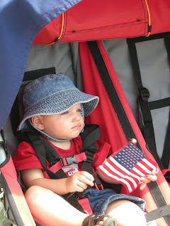 Baby celebrating July 4th