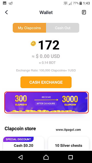 exchange clipcoins to USD