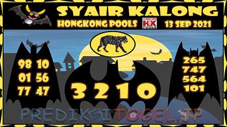 Syair Kalong HK Malam ini 13 September 2021