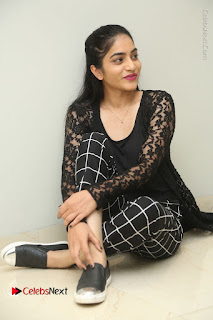 Actress Punarnavi Bhupalam Stills in Black Dress at Pittagoda Press Meet  0118.JPG