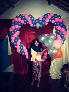 balon dekorasi bentuk love