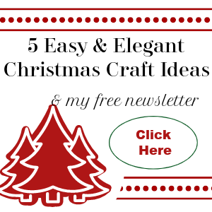 Easy Christmas Craft Ideas and Free Newsletter Sign Up Icon