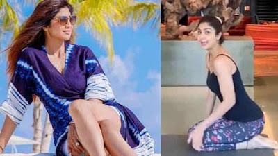 Shilpa Shetty learning advanced Yoga video viral
