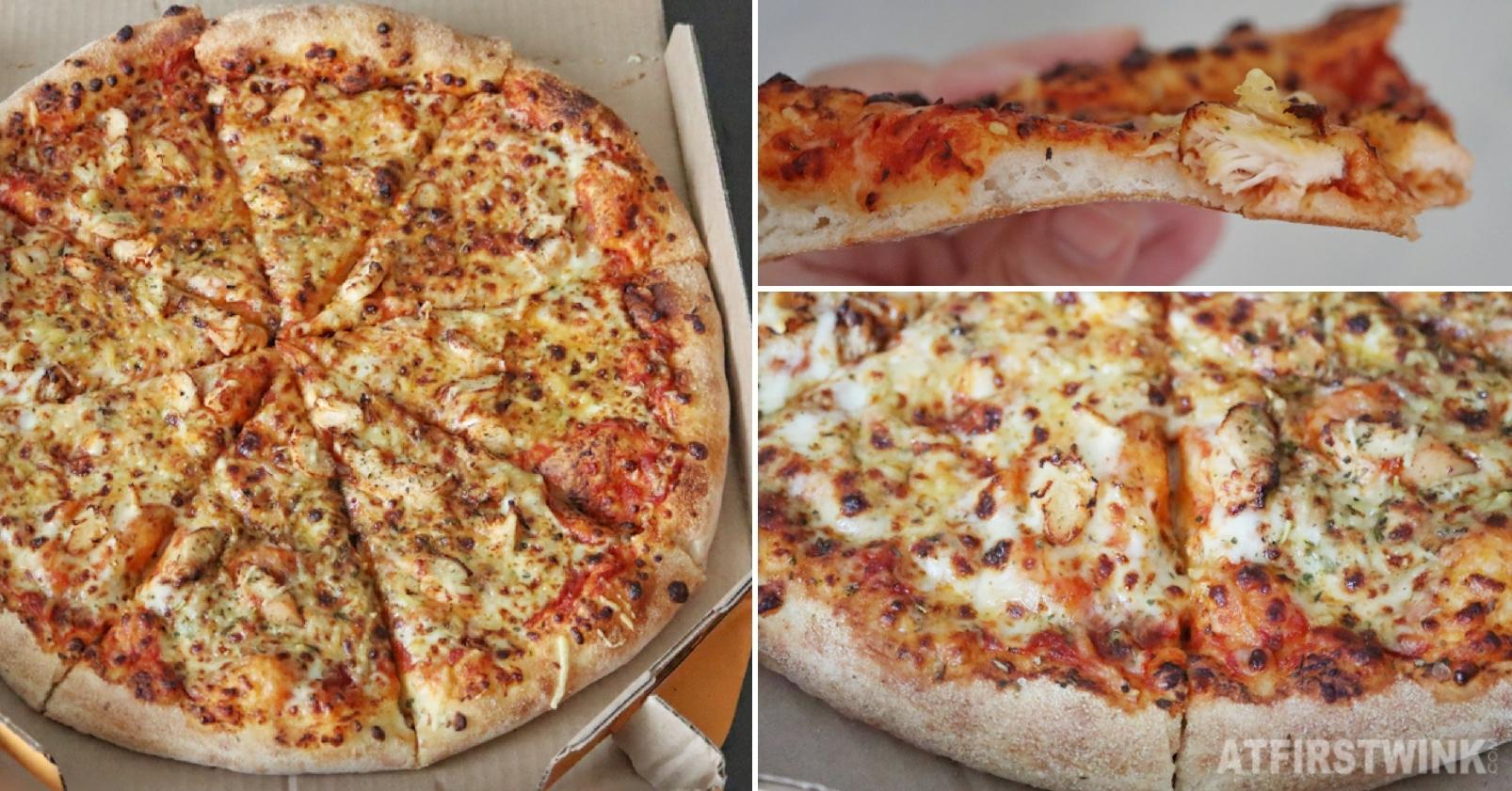 Domino's pizza California chicken alfredo