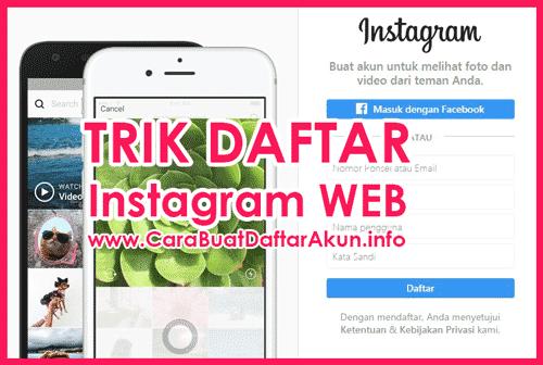 Daftar Instagram Di Web Contoh Buat Akun Ig Lewat Pc Atau Laptop