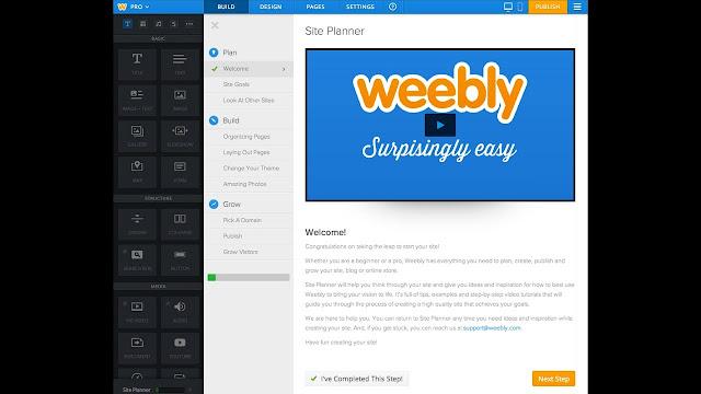 شرح weebly لانشاء موقعك بسهولة في 3 خطوات