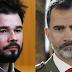 Gabriel Rufián ridiculiza al rey Felipe VI