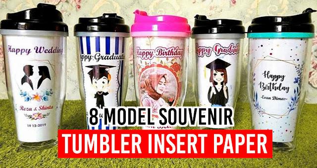 8 Model Souvenir Tumbler Insert Paper