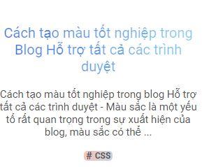 Cách tạo màu tốt nghiệp trong Blog Hỗ trợ tất cả các trình duyệt