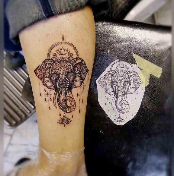 Elephant Mandala Tattoo Www Picswe Com