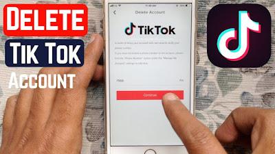How to delete a Tik Tok account 2020