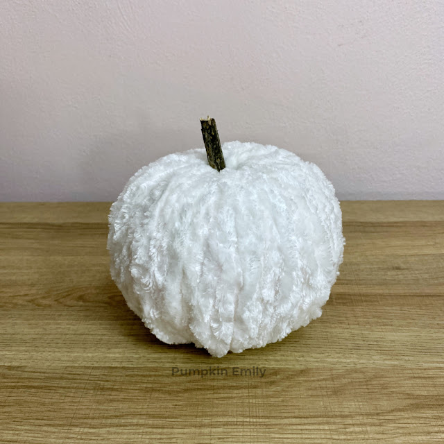 White Chunky Yarn Pumpkin