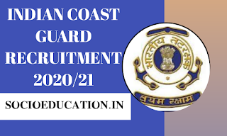 Indian Coast Guard Recruitment 2021