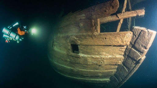 Eerily well-preserved 17th-century ship found in the dark waters of the Baltic Sea
