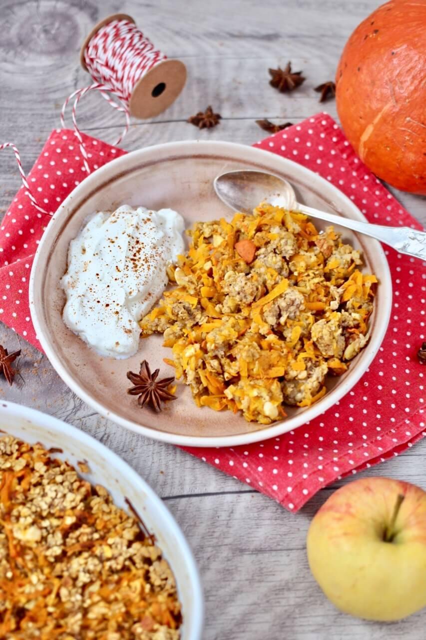 Gebackener Kürbis-Porridge