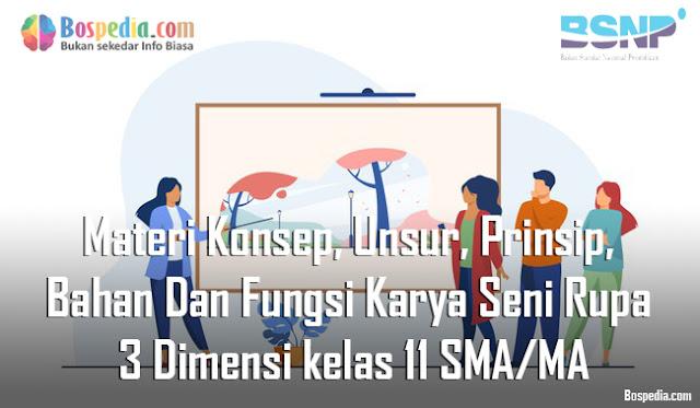 Materi Konsep, Unsur, Prinsip, Bahan Dan Fungsi Karya Seni Rupa 3 Dimensi kelas 11 SMA/MA