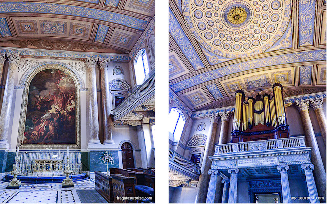 Capela do Royal Naval College, Greenwich, Londres