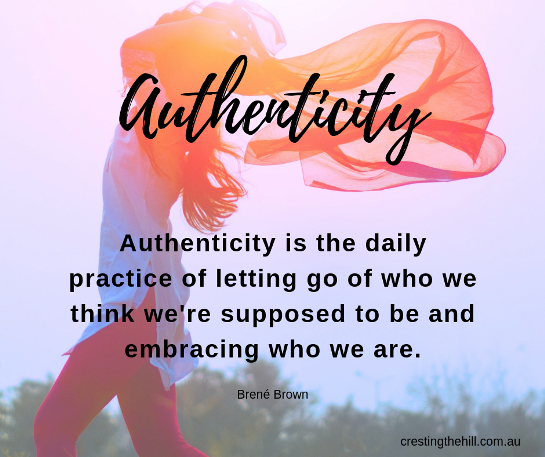 Authenticity is the daily practice of letting go of who we think we're supposed to be and embracing who we are. Brené Brown #lifequotes