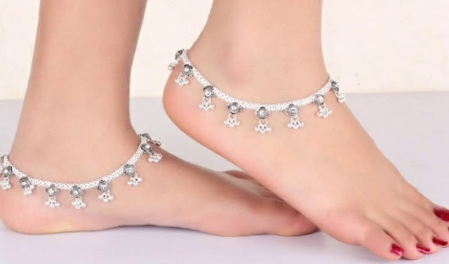 Silver Anklets For Girls