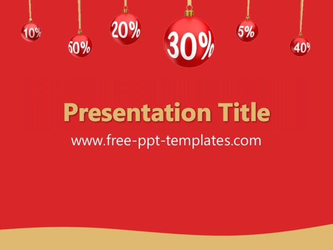Holiday Sales Ppt Template