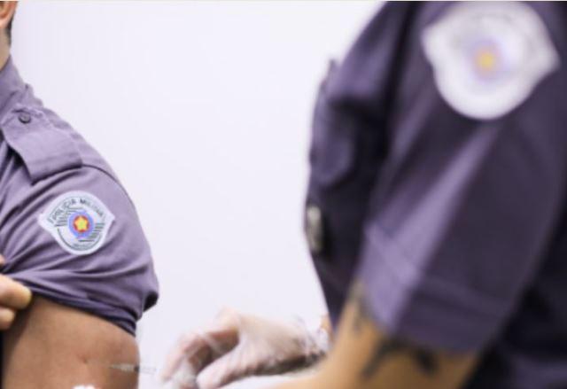 Governo de SP inicia a vacinação de agentes de segurança de todo o Estado contra o coronavírus