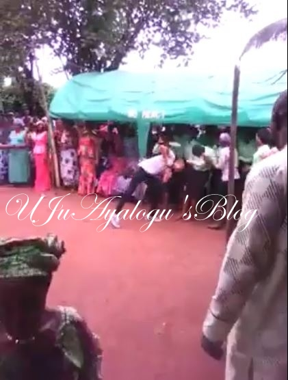 (Watch Video)Unbelievable!! Pastor Caught on Camera 'Spiritually' Headbutting Church Members During Retreat
