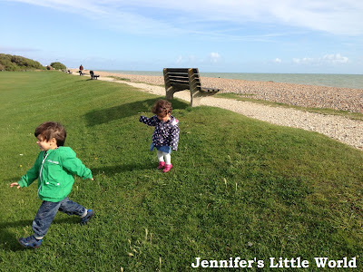 Children playing at Goring Gap near Worthing