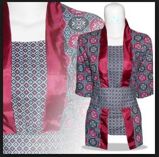 Model Baju Atasan Batik Modern Unik dan Lucu