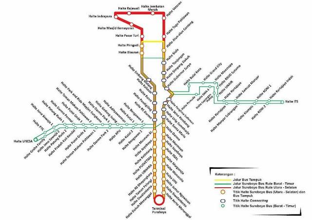 rute suroboyo bus
