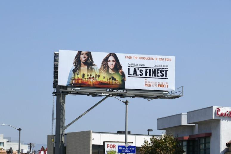 LA's Finest series launch billboard