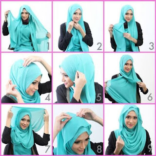 Cara Memakai Hijab Segi Empat Yang Mudah Dan Praktis