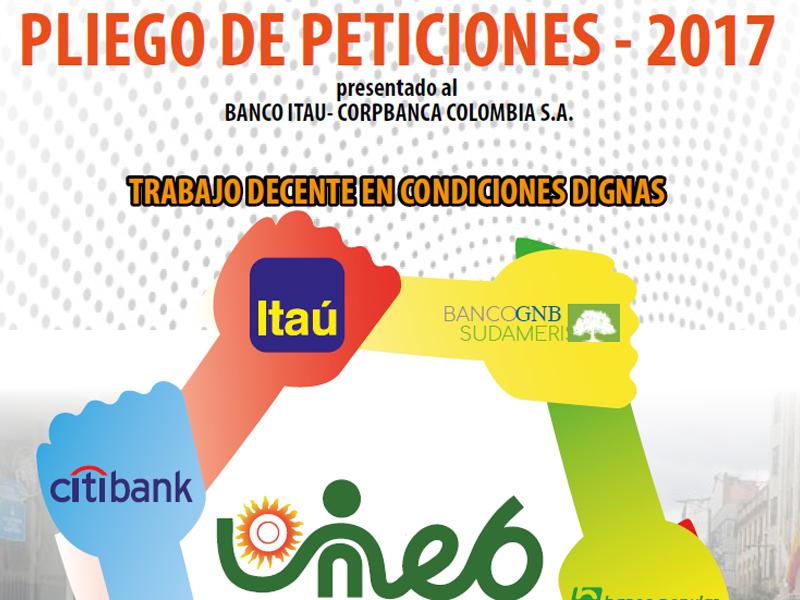Pliego de peticiones 2017 Itaú