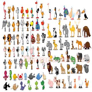vector trang trí mẫu giáo, trường mầm non tranh động vật