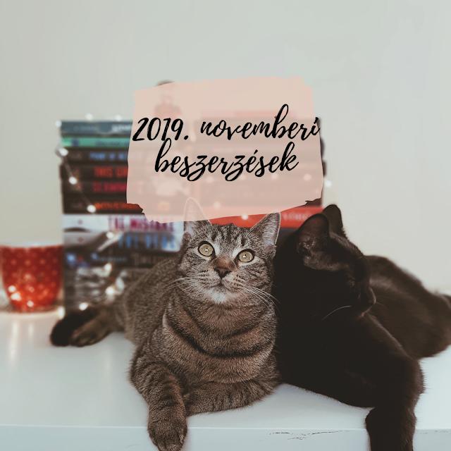 2019. novemberi beszerzések a Tekla Könyvei könyves blogon Borisz és Kátya cicákkal