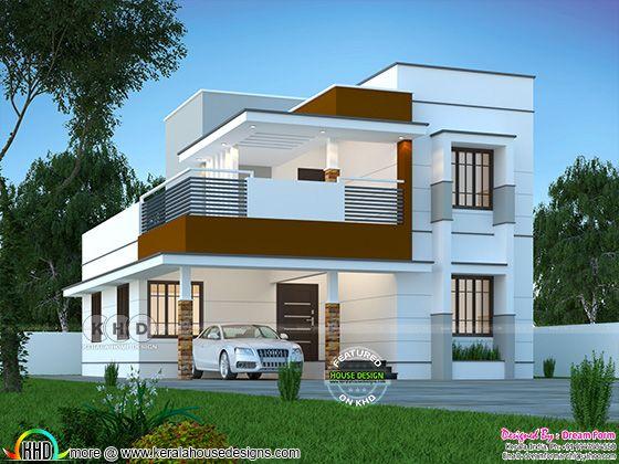 4 bedrooms 2000 sq. ft. modern home design
