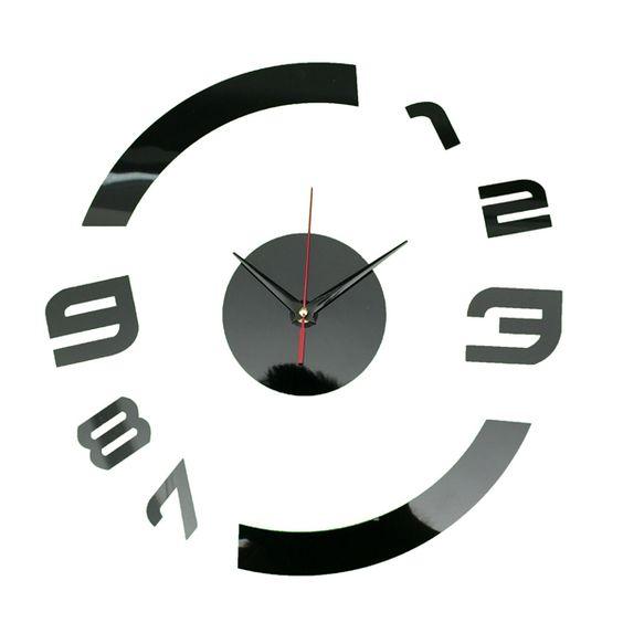 Черные современные часы