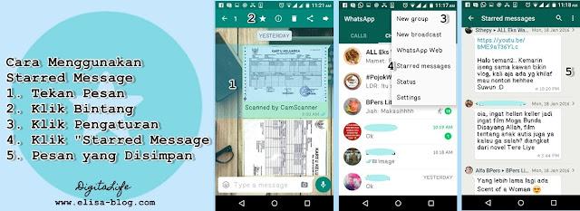 Cara Menggunakan Fitur Starred Message pada WhatsApp