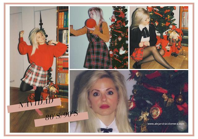 Cabecera con los cuatro estilos recreando la Navidad de los 80's/90's