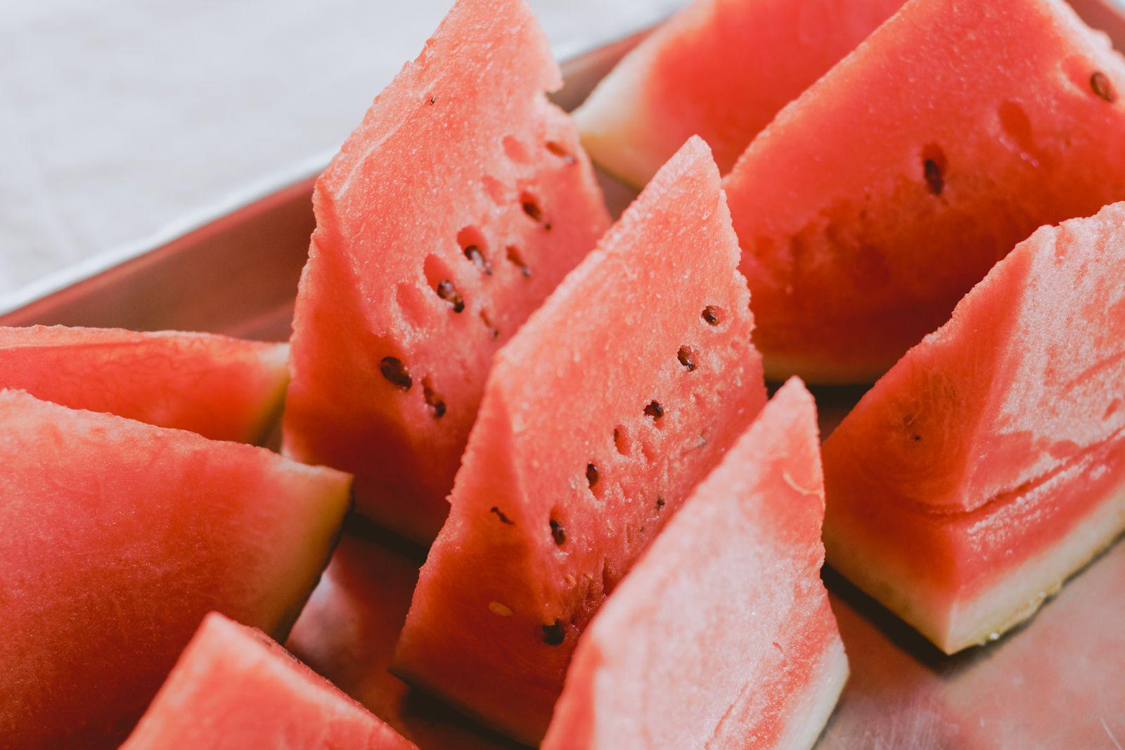 fatias de melancia vermelhas