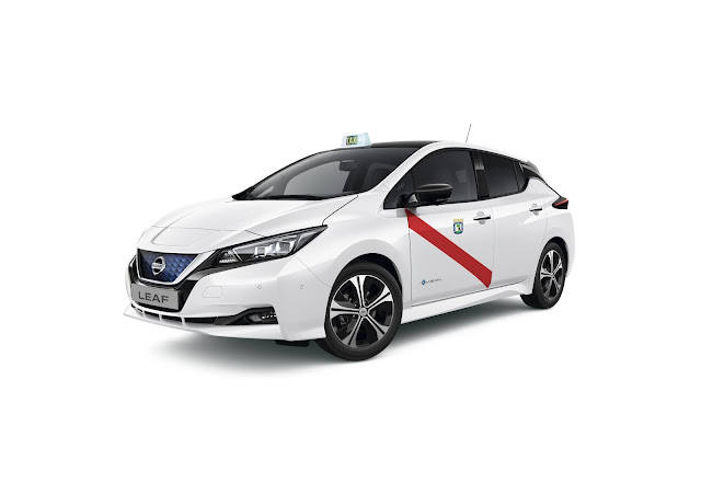 Nissan Leaf electric taxi