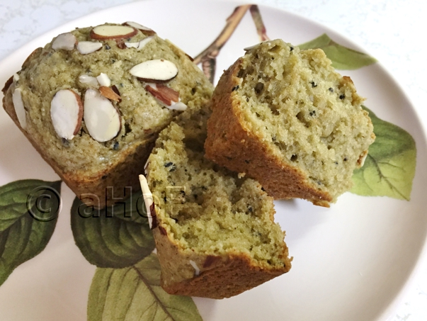 Matcha & Black Sesame Muffins