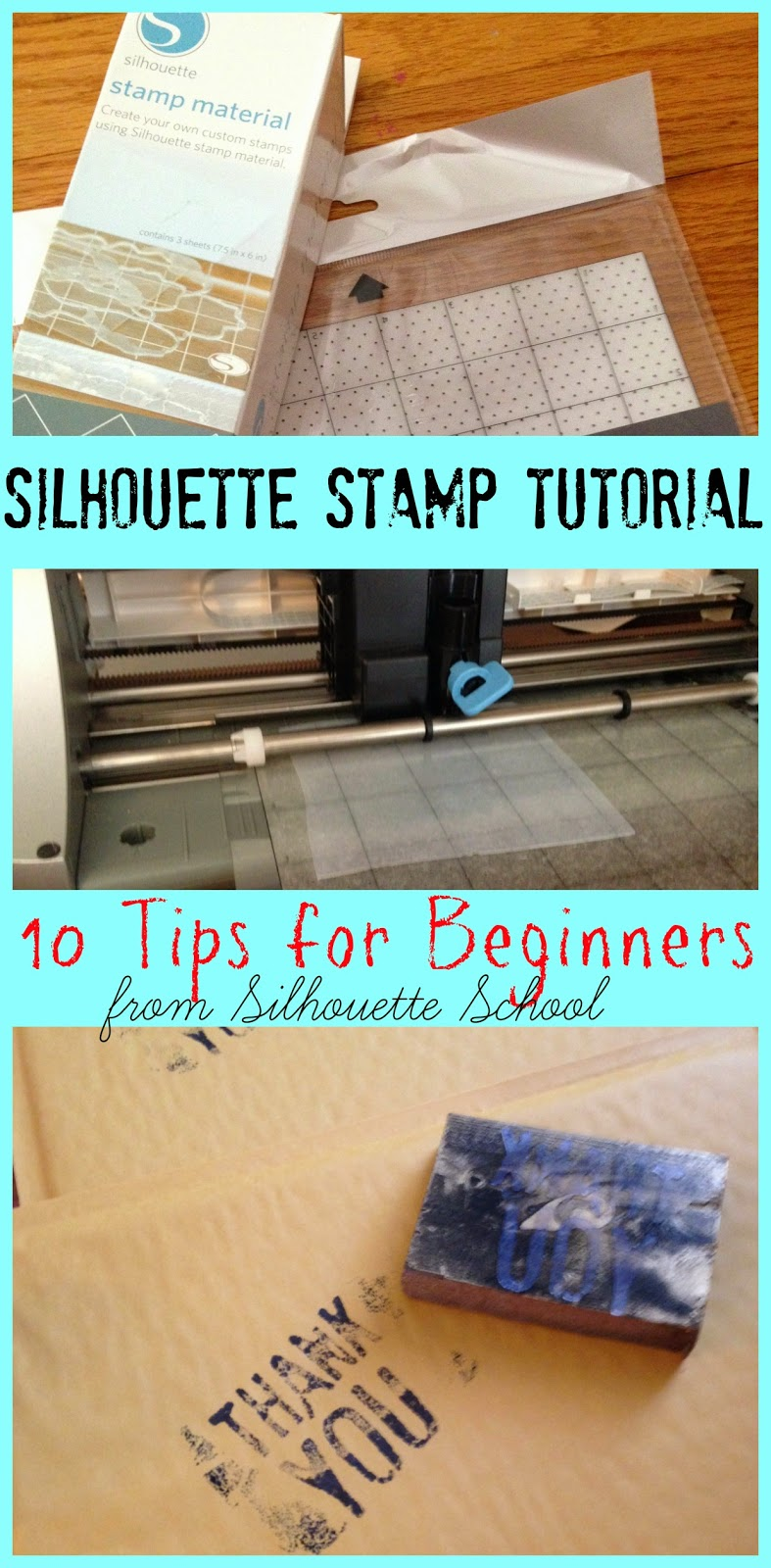 Silhouette, stamp, tutorial, beginners