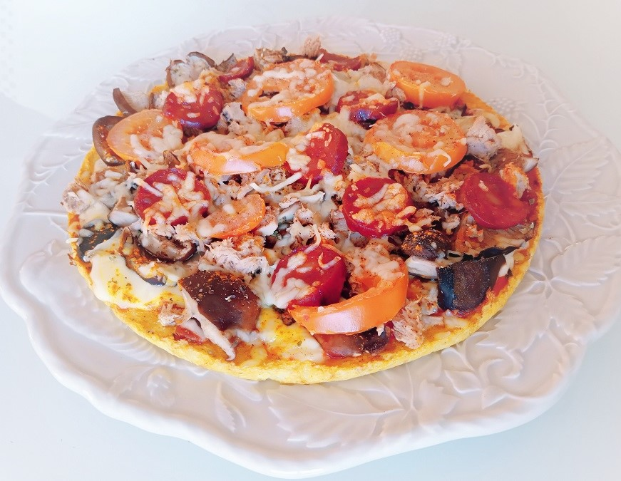 Base de pizza sem farinha