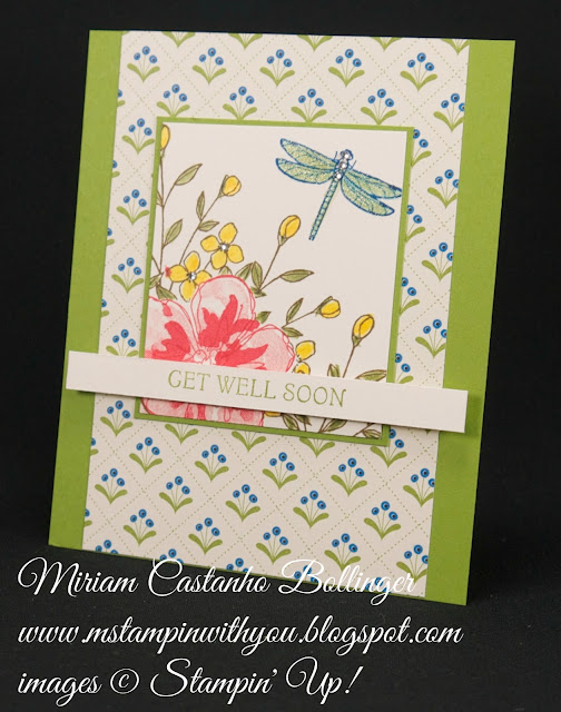 Miriam Castanho-Bollinger, #mstampinwithyou, stampin up, demostrator, pp, get well, pretty petals dsp, touches of texture, thoughts & prayers, penned & painted stamp set, watercolor pencil, su